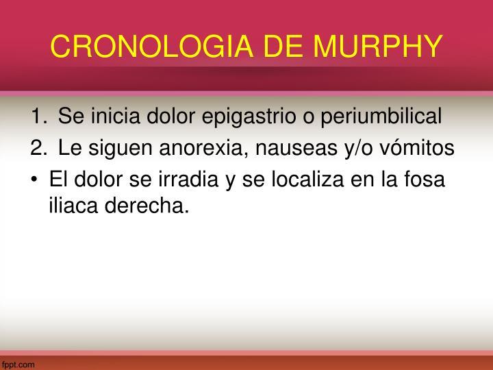 CRONOLOGIA DE MURPHY