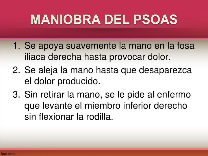 MANIOBRA DEL PSOAS