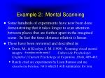 example 2 mental scanning