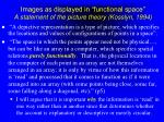 images as displayed in functional space a statement of the picture theory kosslyn 1994
