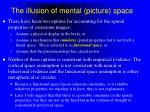 the illusion of mental picture space