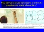 what can we conclude from reports of arithmetic operations on imagined quantities