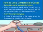 how to use a compression gauge6