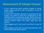 measurement of cylinder pressure