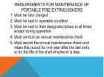 requirements for maintenance of portable fire extinguishers