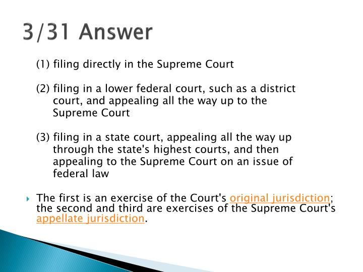 3/31 Answer