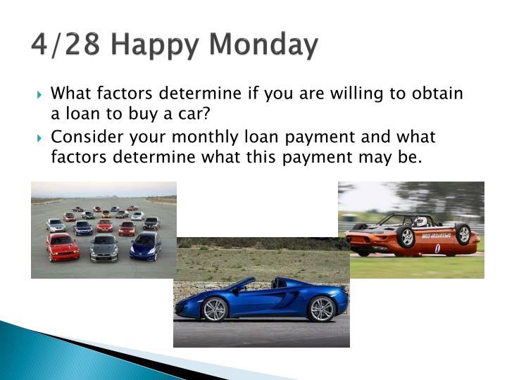 4/28 Happy Monday
