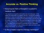 accurate vs positive thinking