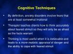 cognitive techniques