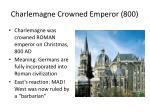 charlemagne crowned emperor 800