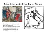 establishment of the papal states