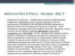 medicare part b policy noridian mac f