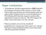 payer limitations