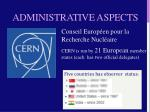 administrative aspects