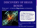 discovery of higgs boson