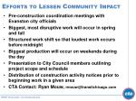 efforts to lessen community impact