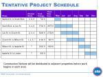 tentative project schedule