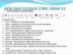 ikon dan toolbox corel draw x3