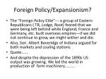 foreign policy expansionism