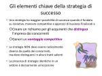 gli elementi chiave della strategia di successo