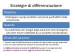 strategie di differenziazione