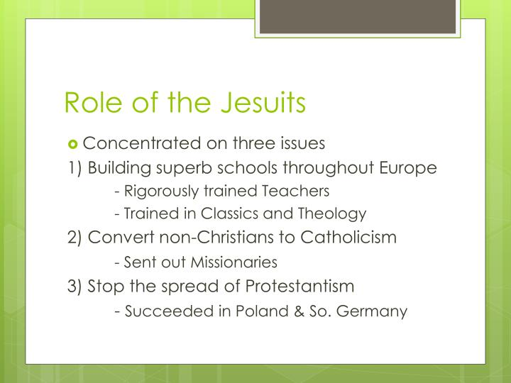 Role of the Jesuits