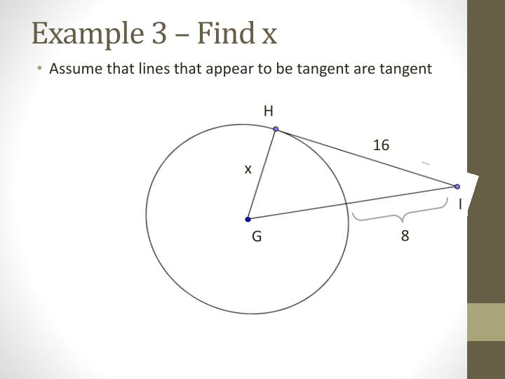 Example 3 – Find x