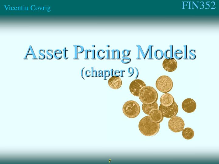 asset pricing models chapter 9 n.