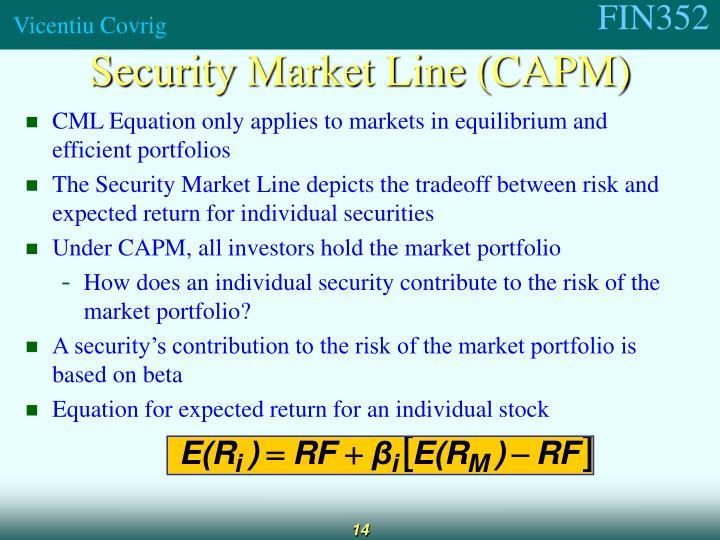 Security Market Line (CAPM)