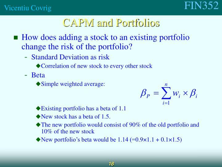 CAPM and Portfolios