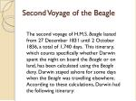 second voyage of the beagle
