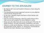 journey to the jerusalem