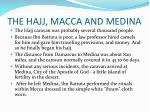 the hajj macca and medina