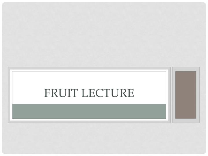 fruit lecture n.
