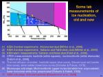 some lab measurements of ice nucleation old and new