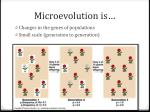 microevolution is