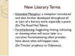 new literary terms