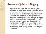 romeo and juliet is a tragedy