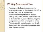 writing assessment two