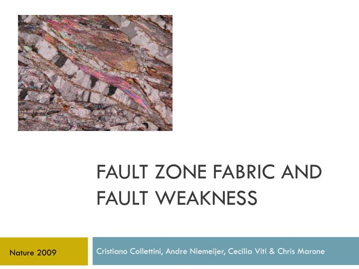 fault zone fabric and fault weakness n.