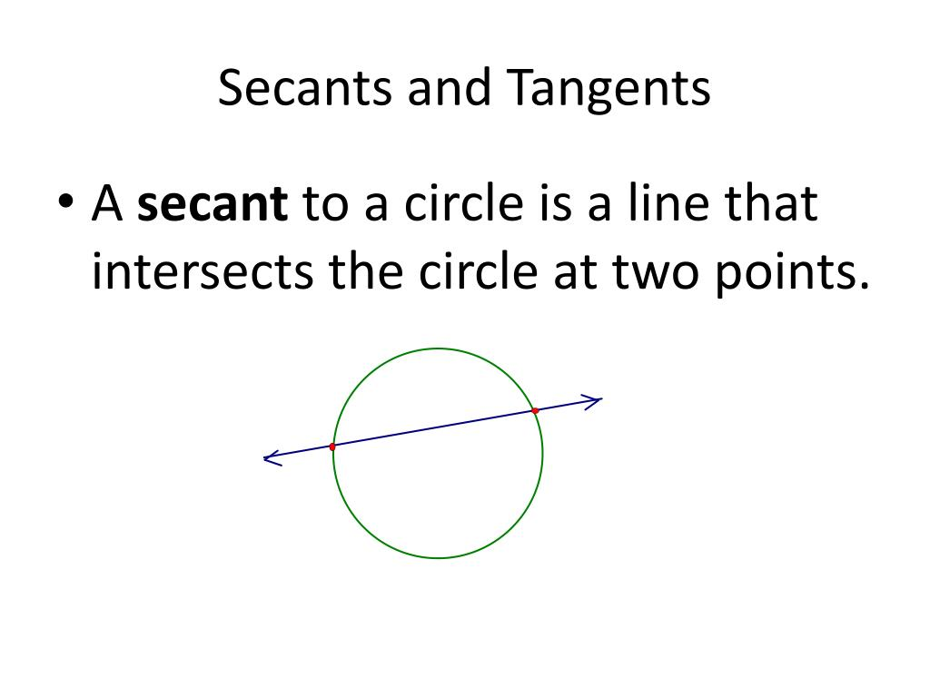 PPT - Secants and Tangents PowerPoint Presentation - ID:2106267