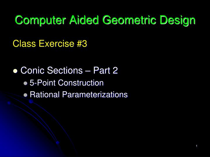 computer aided geometric design n.