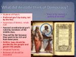 what did aristotle think of democracy