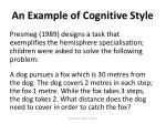 an example of cognitive style