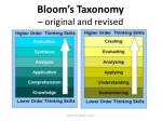 bloom s taxonomy original and revised