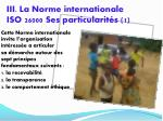 iii la norme internationale iso 26000 ses particularit s 1