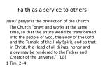 faith as a service to others