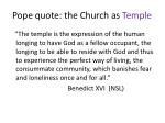 pope quote the church as temple