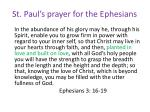 st paul s prayer for the ephesians