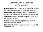 definition of defense mechanisms